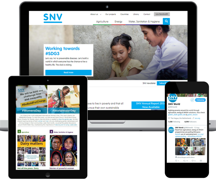 Online campaign SNV