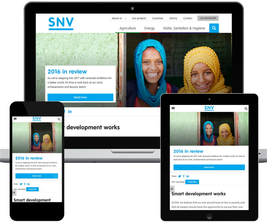 SNV website revamp