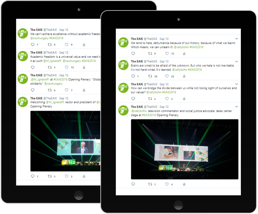 EAIE Conference Twitter