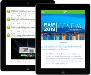 EAIE Conference social media